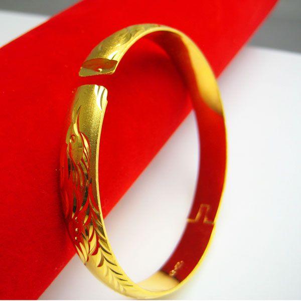 Don't rub off the gold bracelet imitation gold 24K gold bracelet 999 female dragon bracelet Hongkong solid gift purchasing