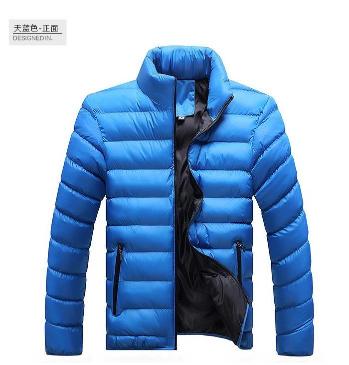 Los hombres de la chaqueta de invierno 2016 New Spring Men's Cotton Blend Mens chaqueta abrigos Casual Outwear grueso para hombres más ropa chaquetas de algodón acolchado masculino
