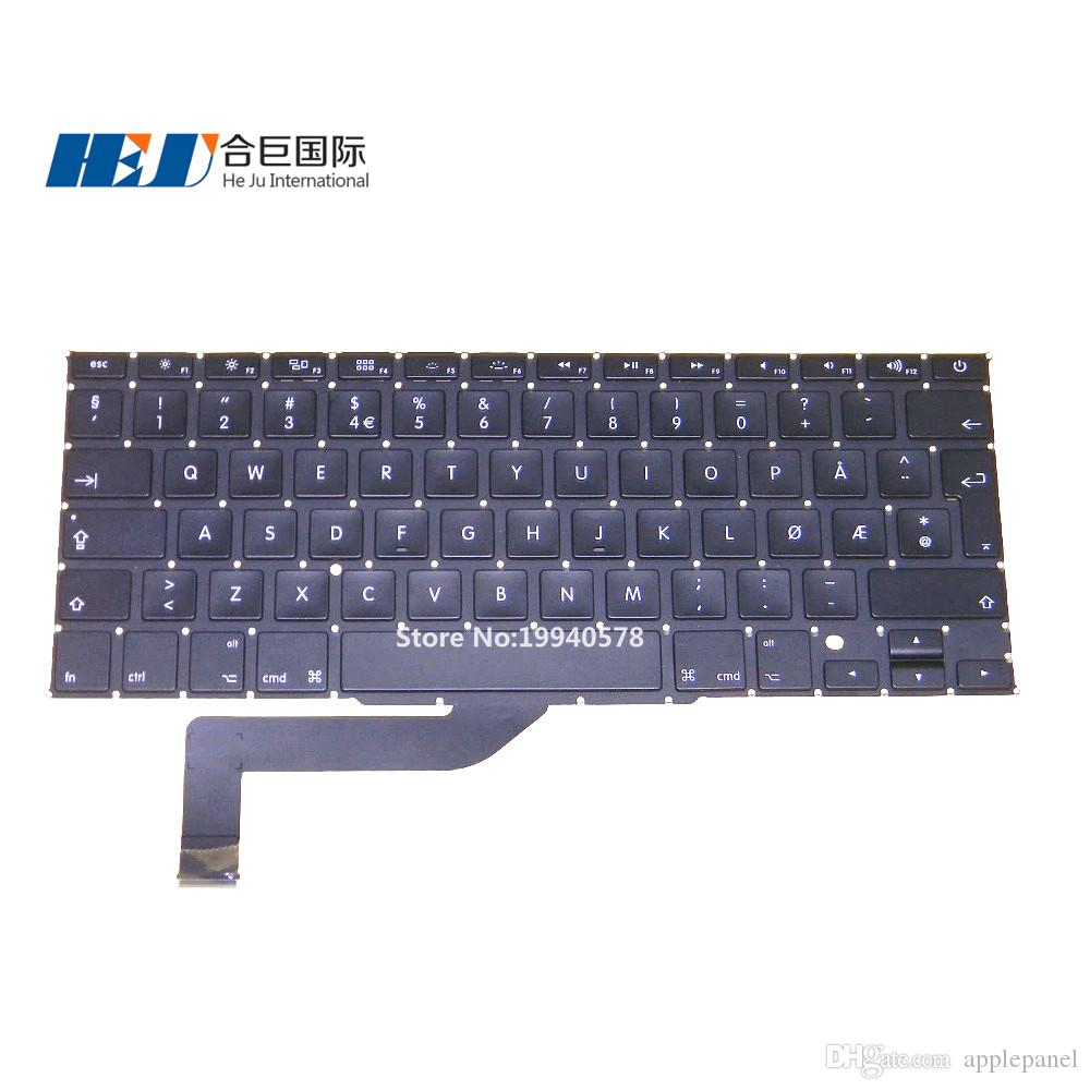 A1398 Norvège Norwegian Keyboard Pour Mac book Pro rétine 15.4