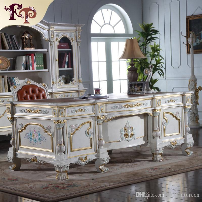 Vintage Study Room: 2019 Antique Classic Writing Desk Baroque Classic Study