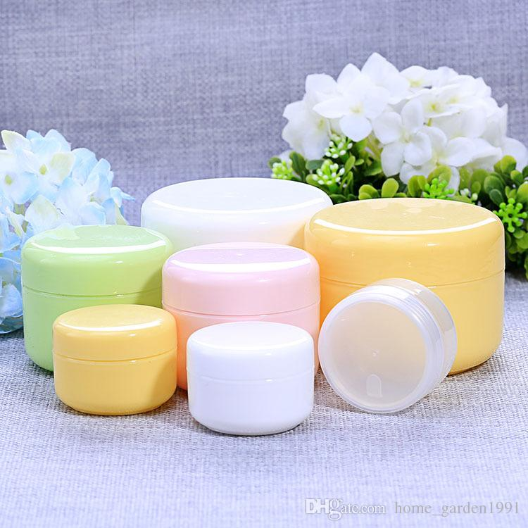 DHL FREE 20g 50g 100g 250g transparent large round bottle Cosmetic Empty Jar Pot Eyeshadow Lip Balm Face Cream Sample Container