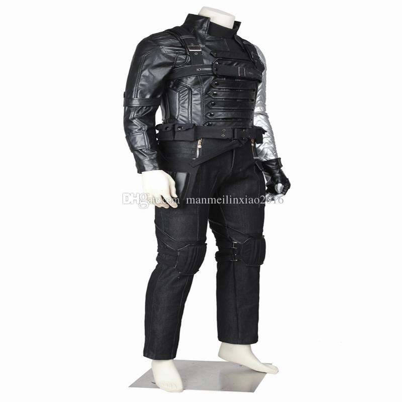 Apparel Captain America 2 Winter Soldier James Buchanan Bucky Barnes Cosplay Costume Da Supereroe Halloween Party Chrismas