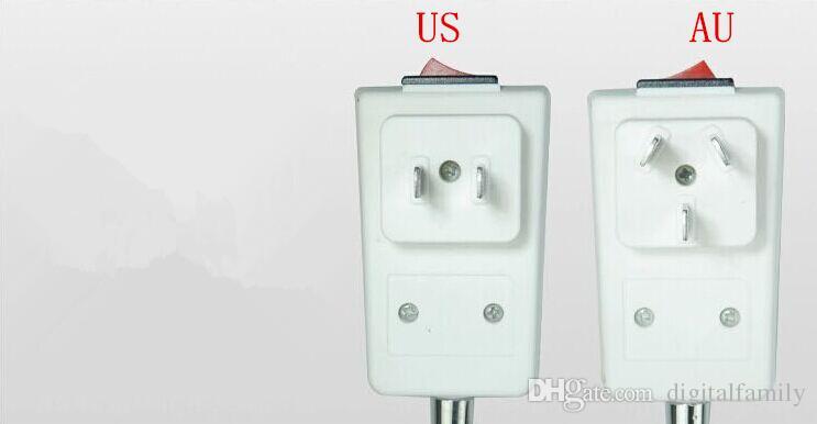 US / AU enchufe Adaptador de fuente de alimentación de CA a E27 Bombillas Adaptador de halógeno Lámpara de mesa de luz flexible / con el interruptor de APAGADO a través de DHL