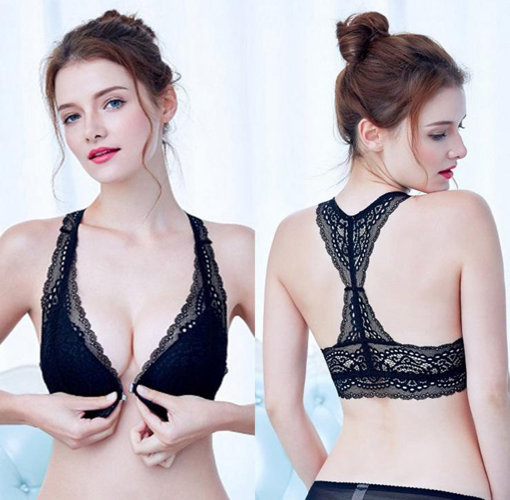 0dc55edbe2 2019 In Stock No Rim Front Closure Women Bra Push Up Lace Ladies Bra And  Panty Set Size 32 34 36 38 From Hclhmx