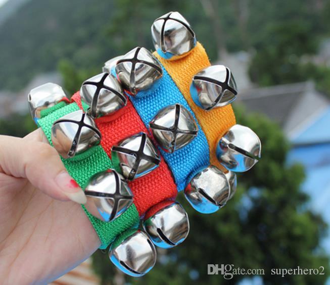 Carnival Party Noise Maker braccialetto braccialetto percussioni campane bambino educazione giocattoli danza sonaglio campane uomo donna bambini vacanza oggetti di scena