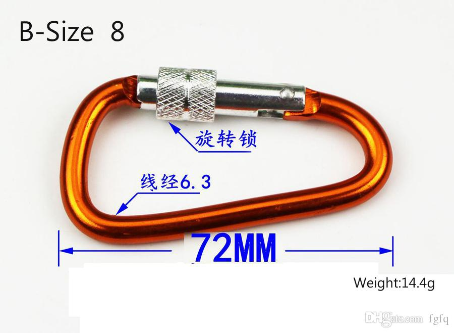 BIG SIZE Carabiner Screw Lock Hook Buckle Padlock for Hiking Camping Outdoor climbing button carabiner Outdoor hooks keychain