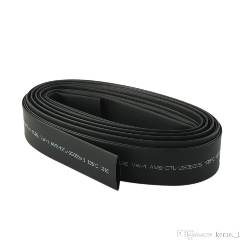 1m 2:1 Black 1.5/2.5/3.5/4.5/5.0/7.0/9.0/11.0/12.0/14.0mm Heat Shrinkable Tube Shrink Tubing Sleeving Wrap Wire Cable Kit