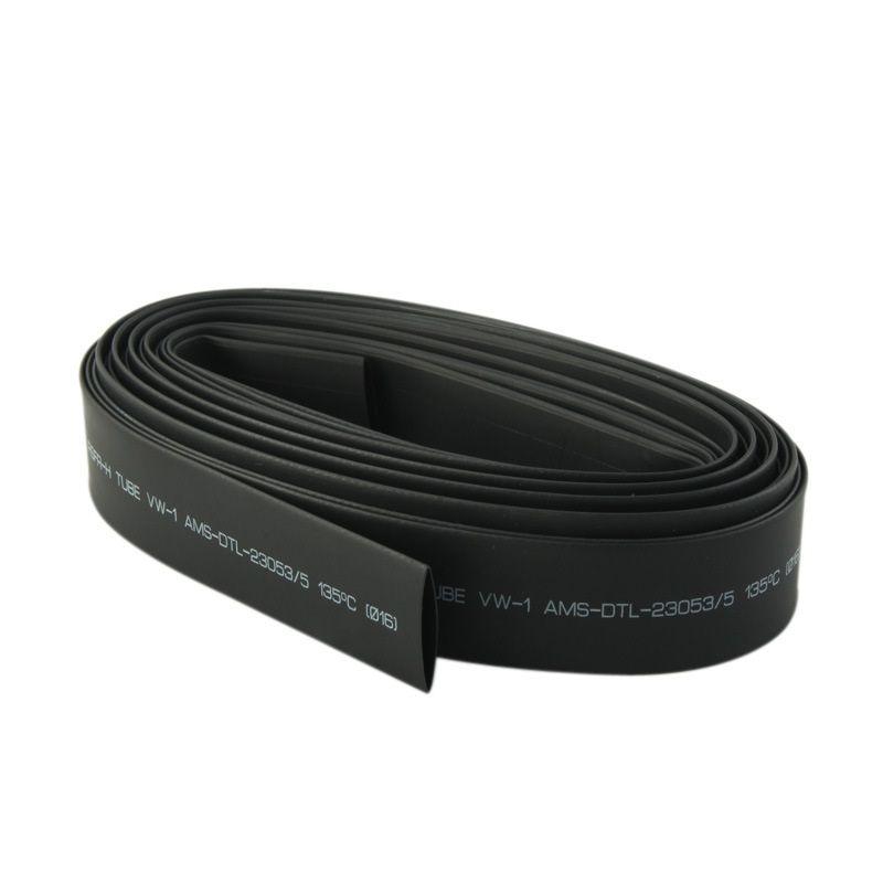 Kostenloser Versand 1m 2: 1 Schwarz 15.0 / 16.0 / 18.0 / 20.0mm Schrumpfschlauch Schrumpfschlauch Schlauch Wrap Wire Cable Kit