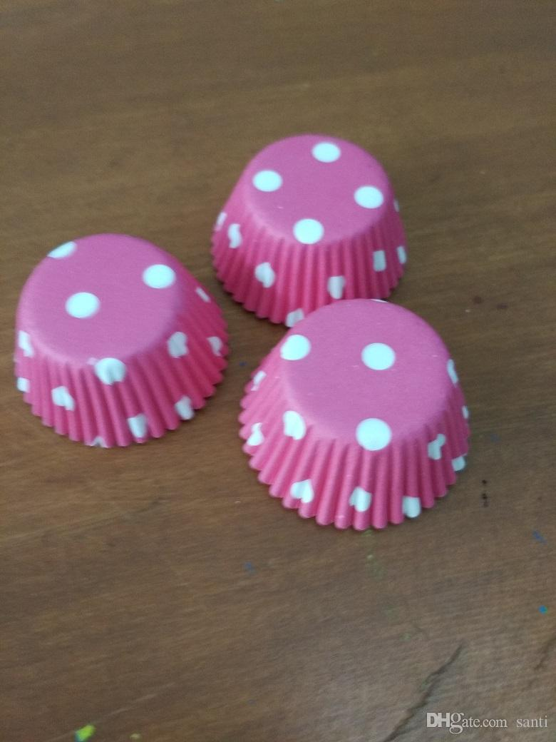 Mini 2.5cm base Paper Cup Cake Liners Muffin Cases Cupcake Mold Baking Cups assorted design