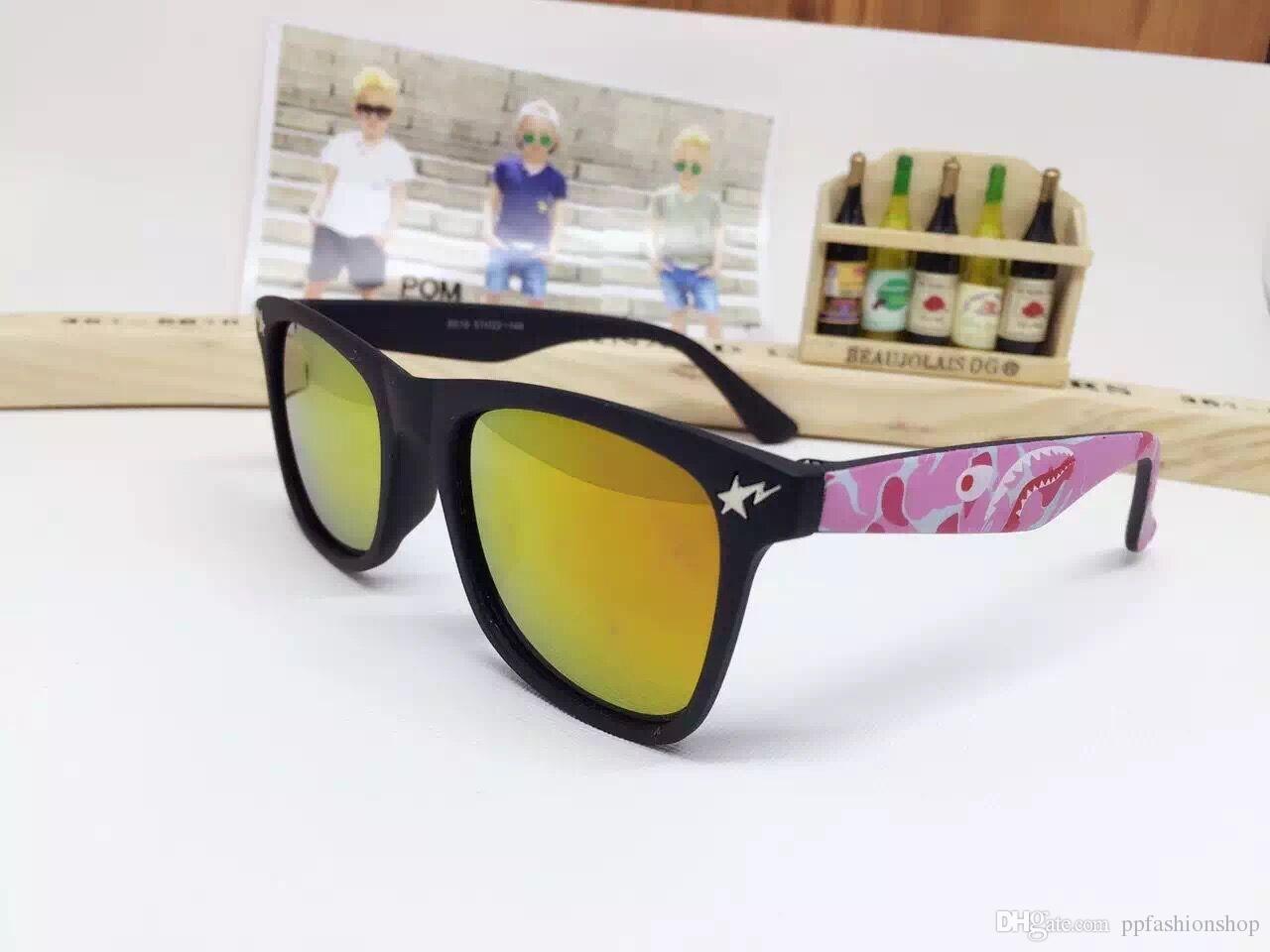 Lunettes de soleil de 2017 nouveaux enfants, lunettes de soleil de mode parent-enfant de couleur sauvage, lunettes de soleil de personnalité unique, lunettes de bébé en gros