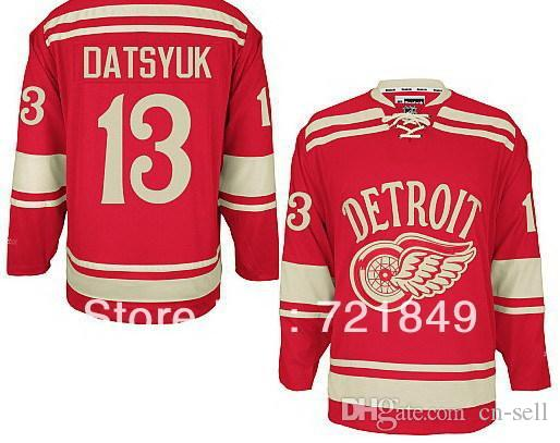 c0f43014d 2018 5 9days 2014 Winter Classic Ice Hockey Jerseys Detroit Red Wings  13 Pavel  Datsyuk Premier Jersey For Cheap From Cn Sell