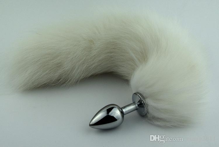 Mais novo rabo de raposa de castidade Anal butt plug / sexy / BDSM Jogo bondage Ass brinquedos sexuais cão jogar kinky