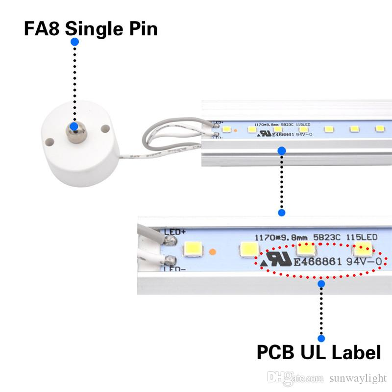 T8 8FT LED Tube Light Bulb, Single Pin FA8 Base, 8 Foot Double Side 90W LED Fluorescent Bulbs Replacement, Stock In US