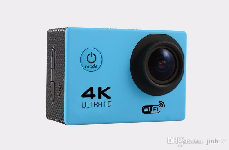 "4K Ultra Hd Action camera F60 4K/30fps 1080P sport WiFi 2.0"" 170D Helmet Cam underwater waterproof Sport Camera With Retail Package JBD-M7"