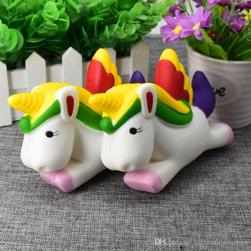 cute kawaii colossal jumbo unicorn pu squishy fidget slow rising soft simulation bread cake squishies squeeze kids toys christmas gifts squishy toys unicorn