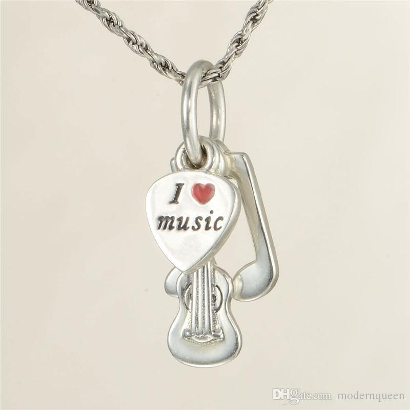 Charms perline musicali nota S925 argento adatto braccialetti di fascino stile pandora spedizione gratuita LW569H8