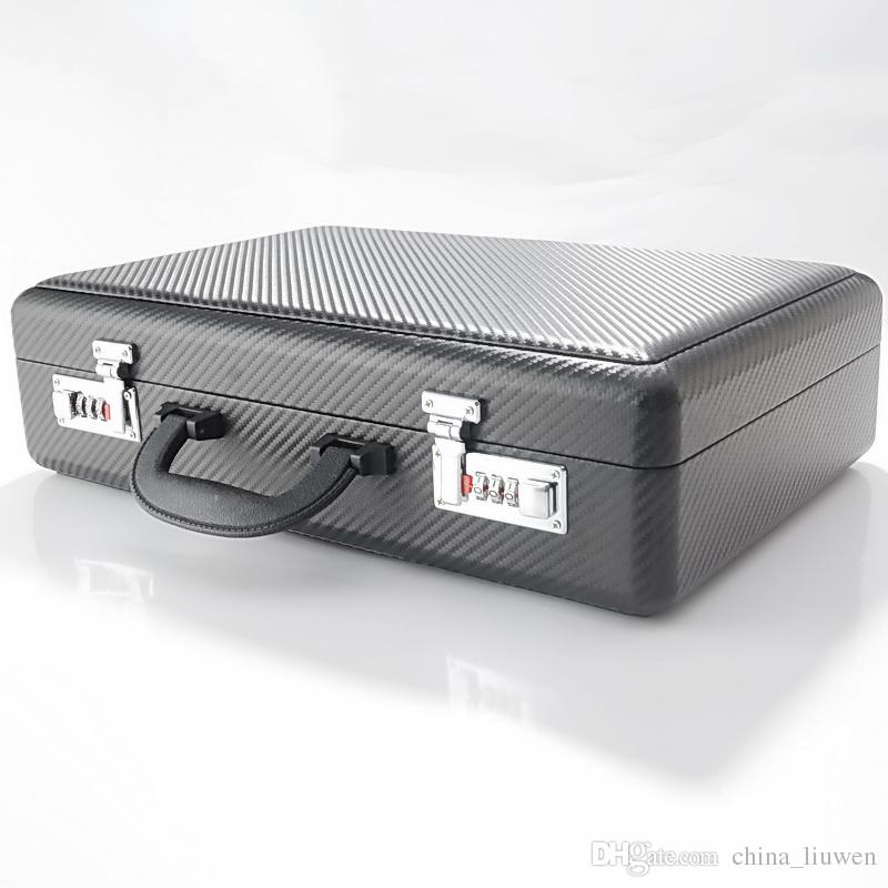 high quality woven pattern PU 21 slot watch box Password lock suitcase Collection box display case