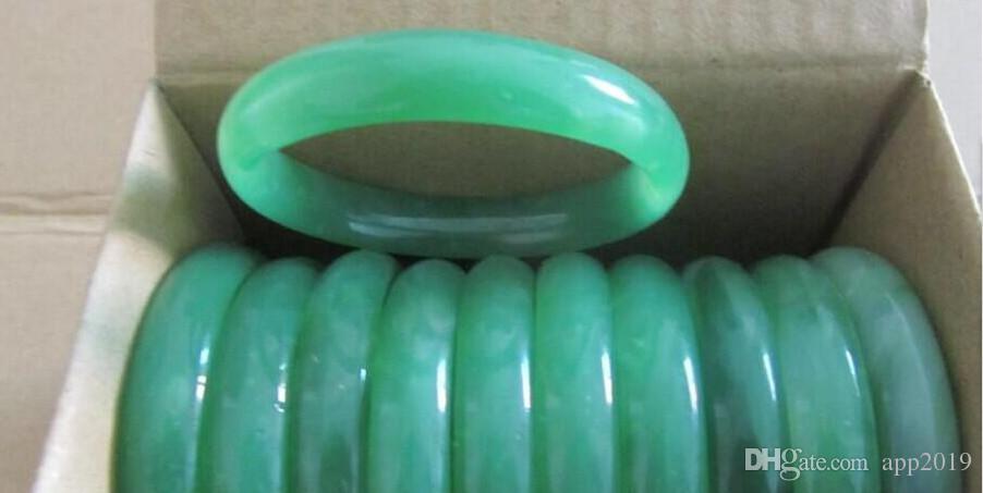 Braccialetto d'argento dei monili dei braccialetti dell'annata della pietra preziosa della giada verde dei monili