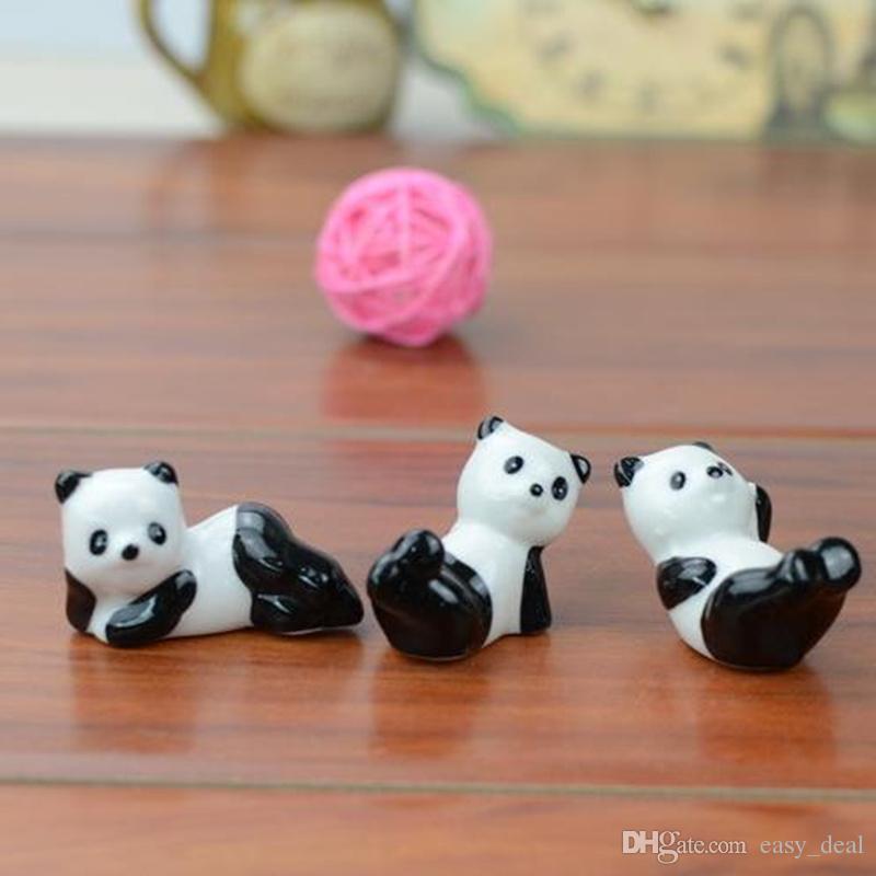 Panda Nette Keramik Dekorationen Stäbchen Halter Rack Stäbchen Matte Stäbchen Pflege Küche Geschirr Liefert F20172565