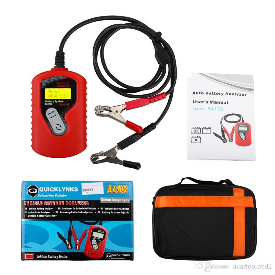 New Arrival QUICKLYNKS BA100 Vehicle Battery Analyzer Automotive 12V Battery Tester Car Battery Test