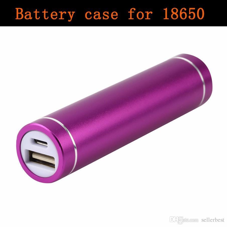 Multicolore Nouveau USB 5 V 1A BANQUE DE PUISSANCE Suite 18650 BATTERIE Externe DIY Kit Cas Boîte Par universel Téléphones Cellulaires En Gros