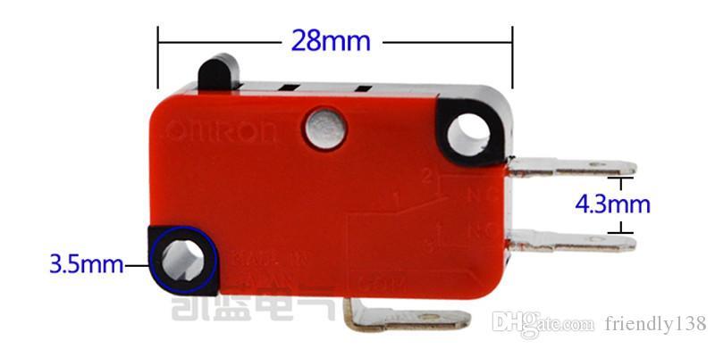 V-15-1C25 Mikroschalter NO + NC 100% Marke Neue utomation SPDT Pin Taste Mikroschalter Hochwertige Silber Punkt
