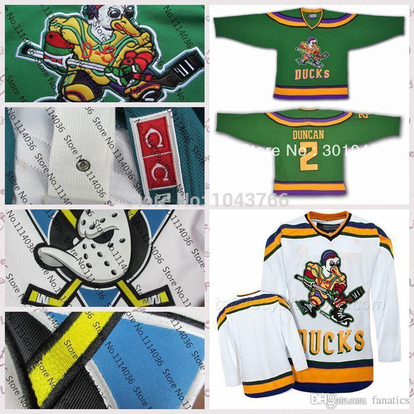 2019 2016 Cheap Mighty Ducks Movie  2 Tommy Duncan Anaheim Hockey Jerseys  1996 06 Green White Customized Tommy Duncan Any Number Top Sale From  Fanatics ce1157133