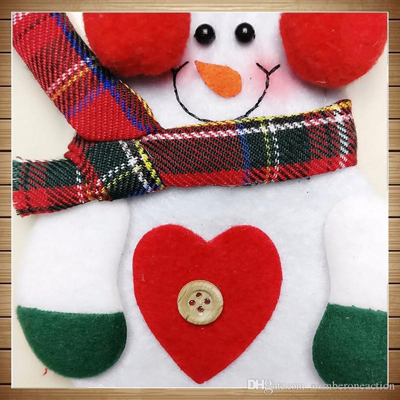 Di alta qualità Carino Pupazzo di neve da tavola titolare posate di argenteria Tasche Natale Natale Cena Cucina Decor