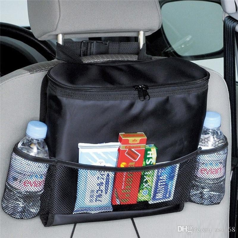 Auto Care Car Seat Organizer Cooler Bag Multi Pocket Arrangement Back Chair Styling Cover Organiser For