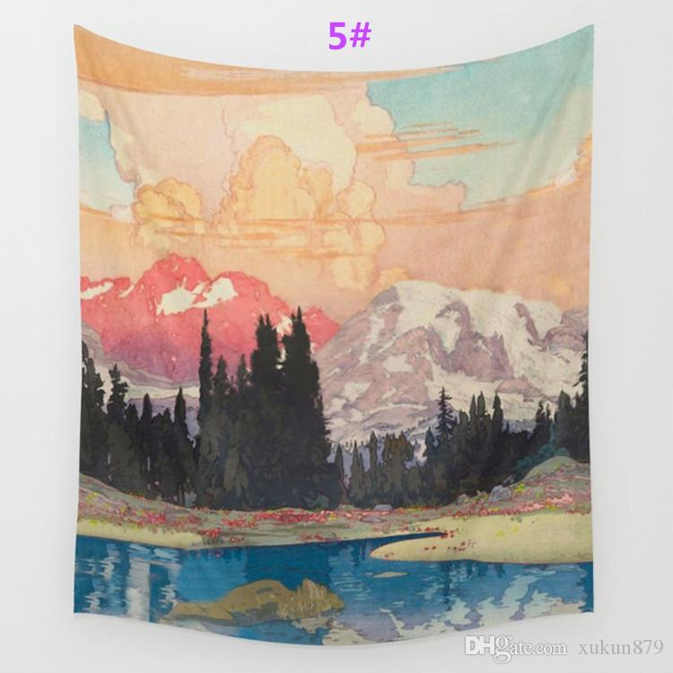 Espace air Tapisserie Fond Mandala Yoga Maison Tissu Serviette De Plage Salon Décoration Décoration murale ECO Friendly