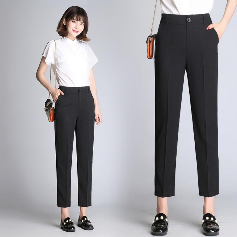 2018 new fashion design formal ladies pants for women