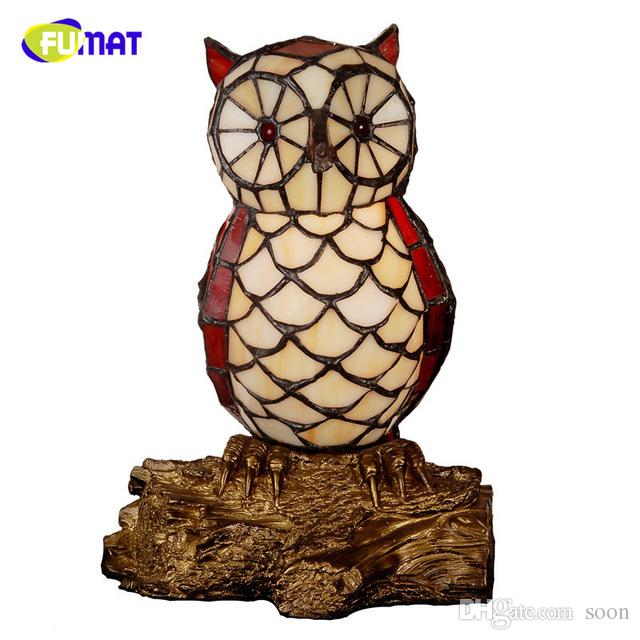 Fumat stained glass table lamp owl lamp creative gift for kids home fumat stained glass table lamp owl lamp creative gift for kids home docor owl bedside table lamp light fixtures art table lights owl table lights stained aloadofball Choice Image