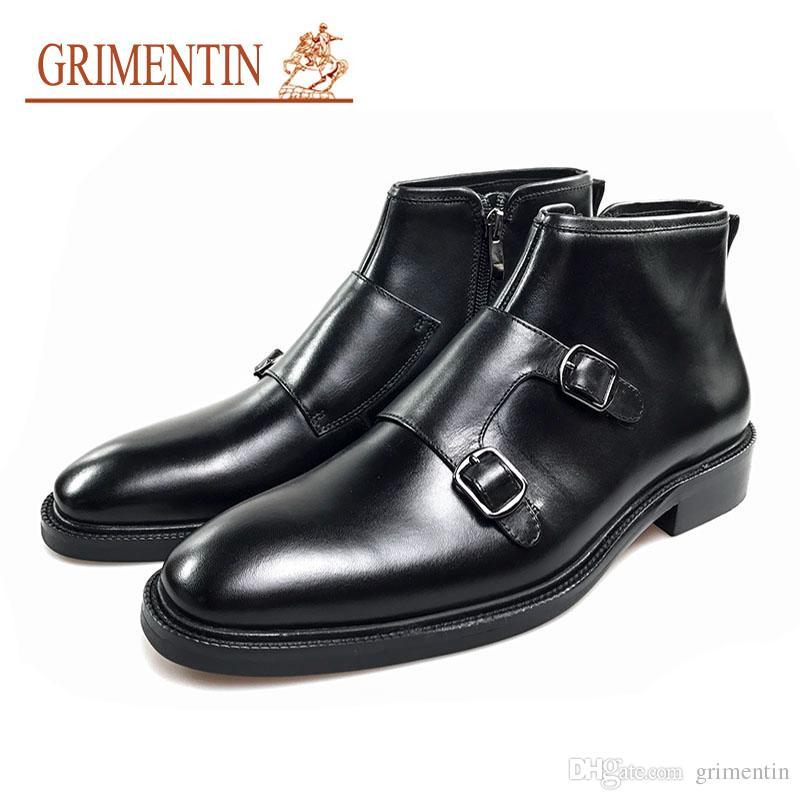 Herrenstiefel Grimentin Echtem Leder Stiefel Männer Arbeiten Luxury Business Stiefeletten Formale Schuhe Herrenschuhe