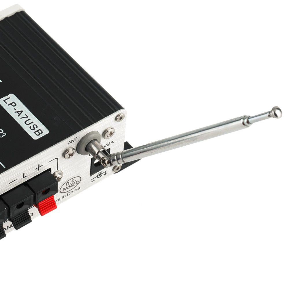 LEPAI LEPY LP-A7USB Mini 12V Car MP3 Hi-Fi Stereo Audio Amplifier Home Auto Motocycle Bass Speaker Boostrer Player USB SD Port DVD FM MMC