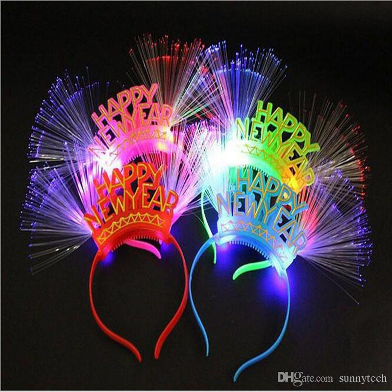 2018 Plastic Colorful Happy New Year Electric Light Up ...