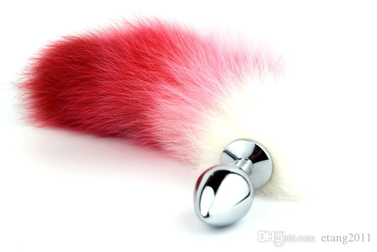 2016 Newest Style Small Middle Big Butt Plug Adult Sexy Toy Fox Tail Anal Plug Metal Butt Plug Anal Sex Toy Bdsm Sm Sex toys