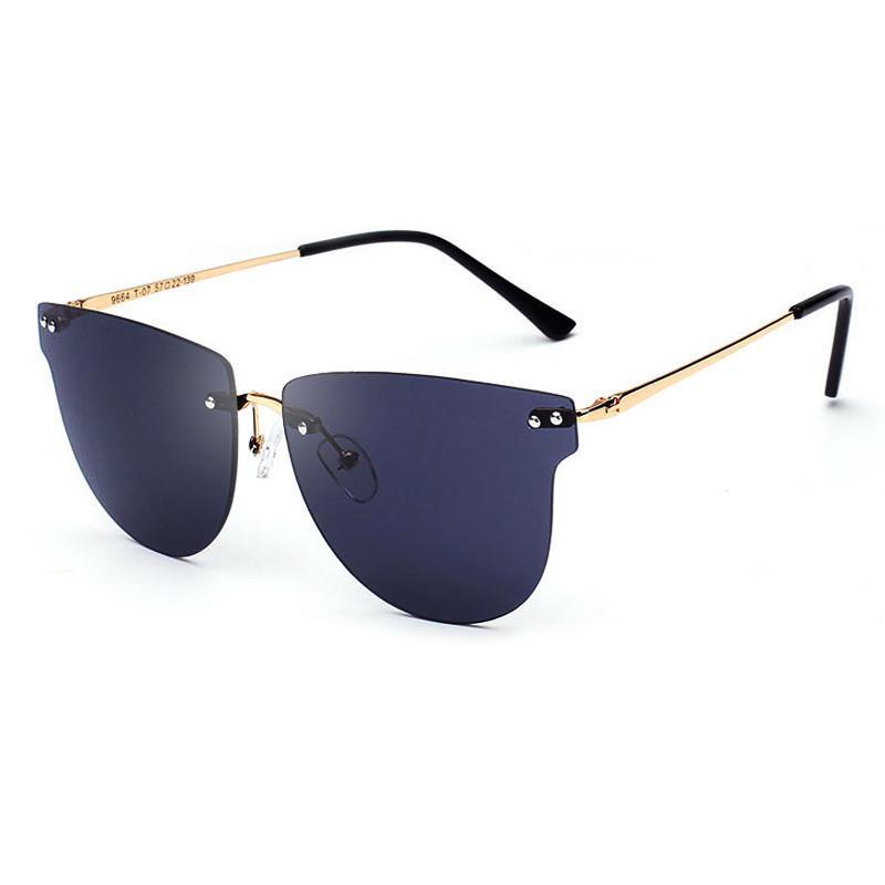 Compre Kunef Cateye Gafas De Sol Sin Montura Gafas De Sol De Mujer ...