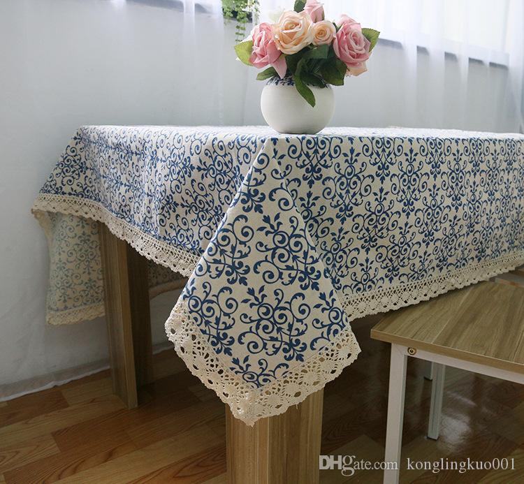 Perfect Classical Chinese Blue And White Linen Tablecloths Wind Small Wholesale  High Quality Home Furnishings Textile Fabric Lace Table Cloth Printi