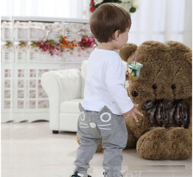 2017 Fashion Toddler Infant Kids Baby Boy Girl Cat Harem Pants Trousers Leggings Bottoms toddler pants G1164