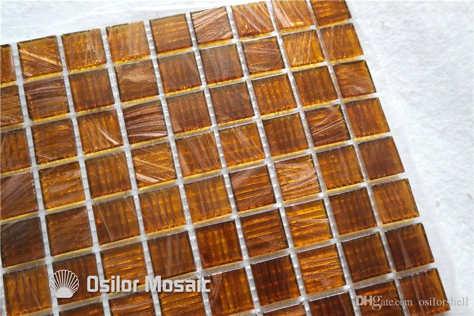 glass mosaic tile for bathroom and kitchen swimming pool wall tile 20x20mm 4 square meters P52
