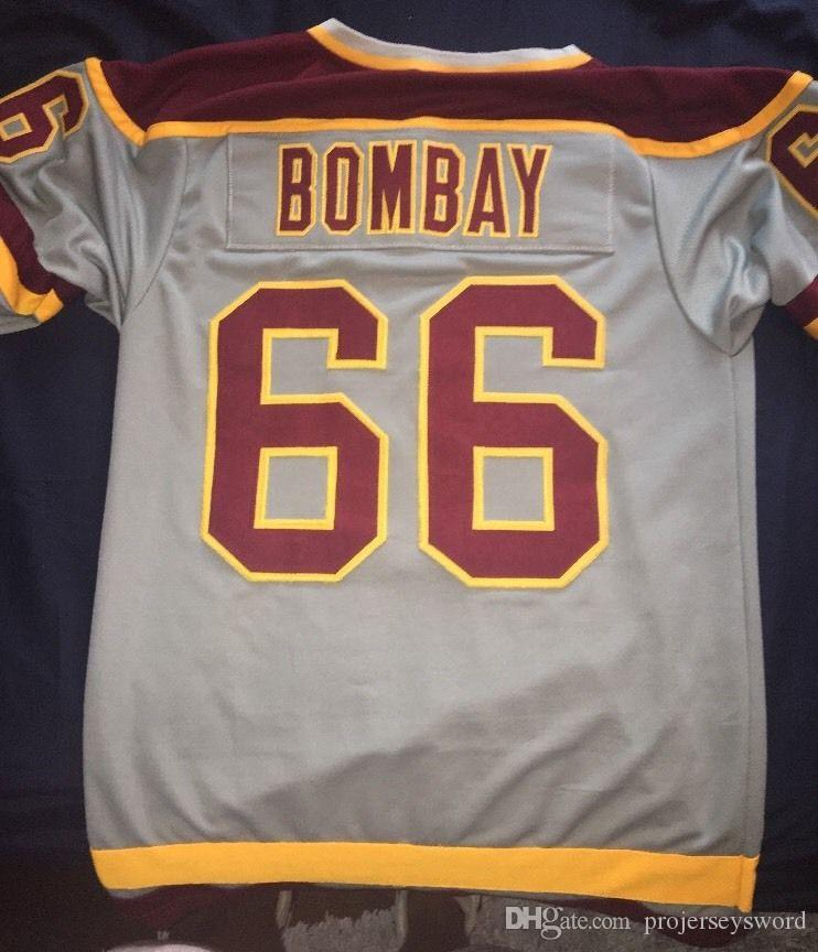# 66 Gordon 봄베이 매우 희귀 한 예약 없음 Gordon Bombay Gunner Stahl Mighty Ducks Waves Hockey Jersey 이름 및 번호 무료 배송