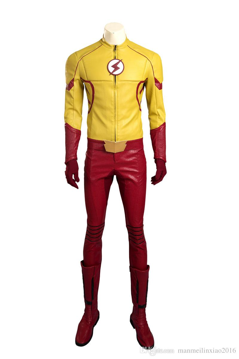 NEW Exclusive The Flash Barry Allen Version 3 Cosplay Costume Halloween Any Size