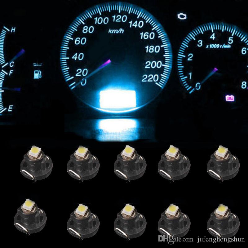 10/Instrument LED Light Bulb T4 T4.2 2835 1SMD White Blue Red Green Neo Wedge Meter Panel Gauge Climate Control LED Bulb Universal