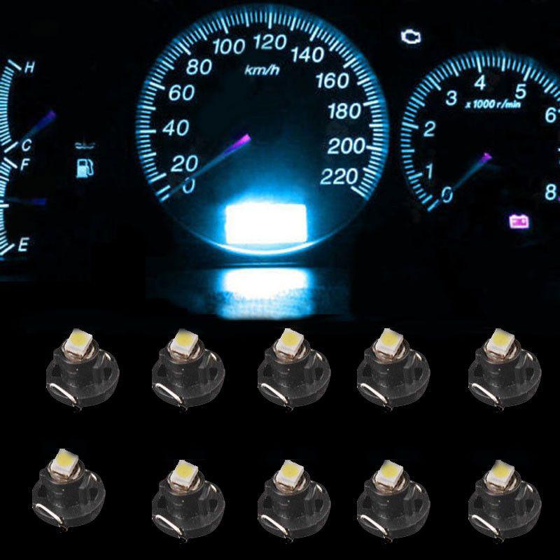 10 / Strumento LED Lampadina T4 T4.2 2835 1SMD Bianco Blu Rosso Verde Neo Cuneo Misuratore di pannello Indicatore di clima Lampadina LED Universale