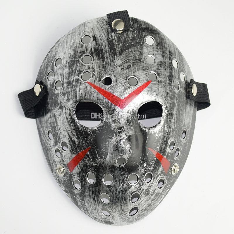 Masquerade Maskeleri Jason Voorhees Maske Cuma 13. Korku filmi Hokeyi Maskesi Korkunç Cadılar Bayramı Kostüm Cosplay Festivali Parti Maskesi WX9-75