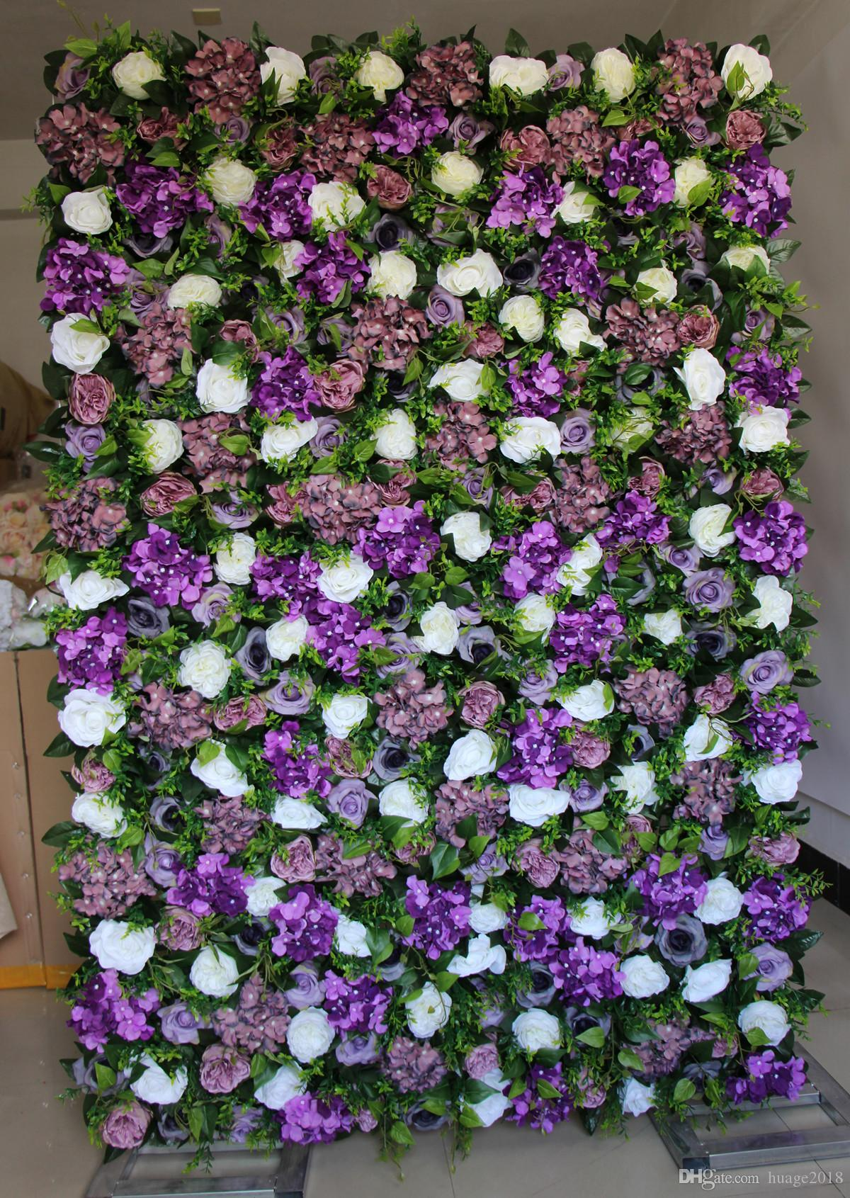 2021 Artificial Flower Wall Rose And Hydrangea Green Leaves Fake Flower Wedding Decorations Backdrop Ems From Huage2018 246 24 Dhgate Com