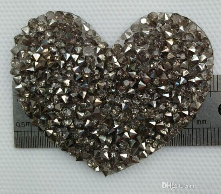 Heart design Hotfix rhinestones Motifs Iron on Patches heat transfer Motif crystal strass Applique for clothing craft