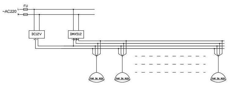 DMX 512 Wireless Synchronous 12V RGB LED Swimming Pool Light 24W PAR56 Waterproof IP68 Underwater Lights Lamp +DMX Controller +Power Adaptor