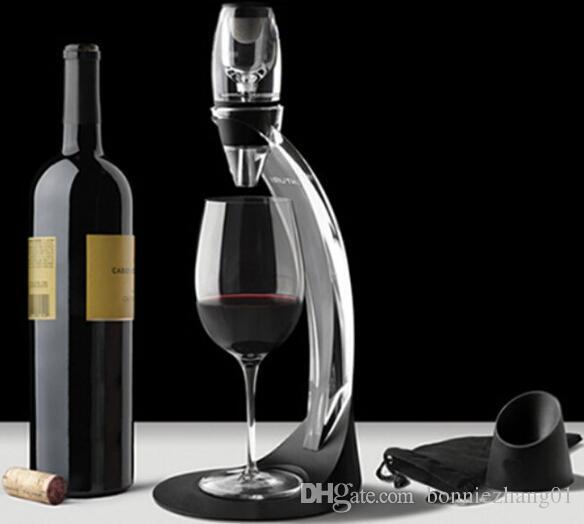 أكريليك النبيذ السريع ماجيك الدورق مجموعات للمنزل بار نادي برواري مجموعات النبيذ الأحمر مهوية تصفية مع حامل حامل أدوات النبيذ