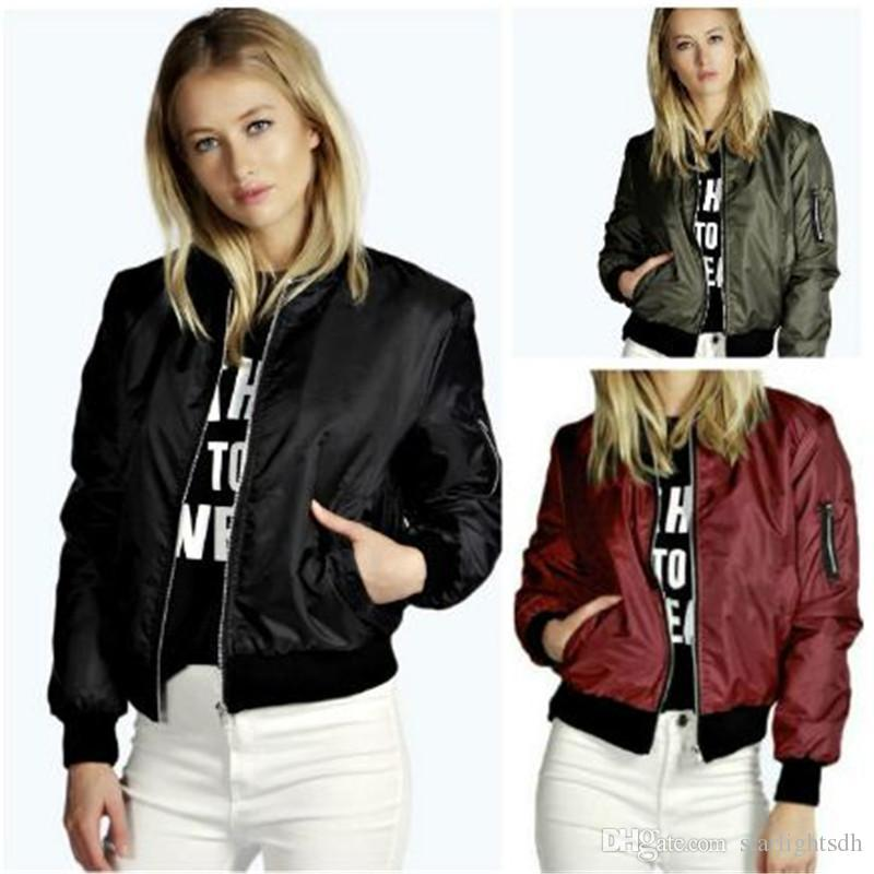 New Autumn Winter Jackets Women Coats Stand Collar Long Sleeves